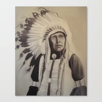 native american Canvas Prints featuring Native American by Coral Churchill