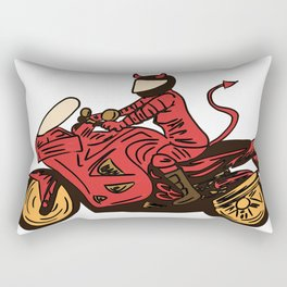 Devil's Motorcycle Rectangular Pillow