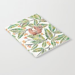 Happy Sloth – Tropical Green Rainforest Notebook