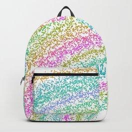 Modern Rainbow Glitter Dots Design Backpack