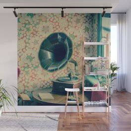 Vintage Antique Gramophone / Vinyl Record Player Wall Mural