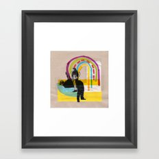 Magic rainbow Framed Art Print