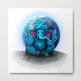 Ganesha The Cosmic Gangster Metal Print