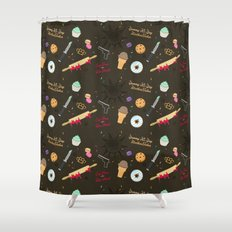 Die Hard Desserts Shower Curtain