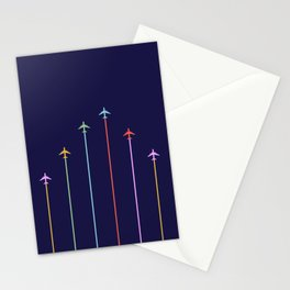 Retro Airplanes 09 Stationery Cards