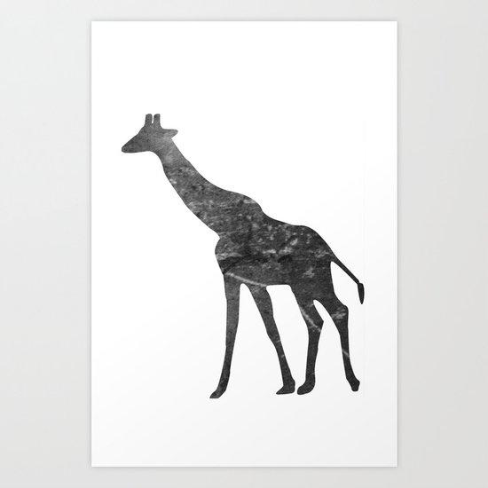 Giraffe (The Living Things Series) Art Print