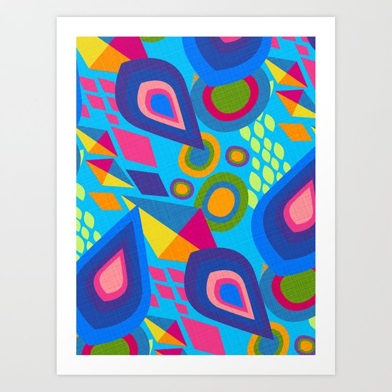 Pointed Conversation  Art Print