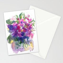 Little Pink Violets Stationery Cards