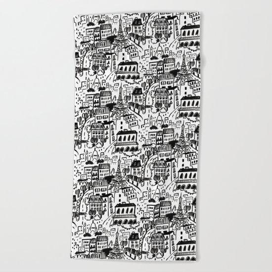 Paris Streets Beach Towel