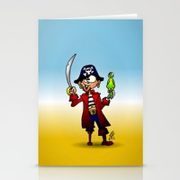 pirate Stationery Cards featuring Pirate by Cardvibes.com - Tekenaartje.nl
