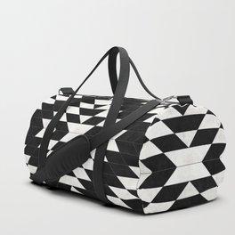 Urban Tribal Pattern No.14 - Aztec - Black Concrete Duffle Bag