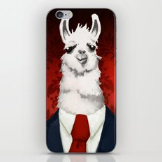 Formal Llama - Red iPhone & iPod Skin