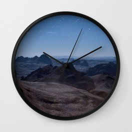 Haggar Mountains Wall Clock