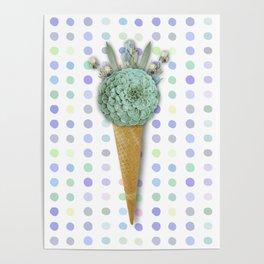 SUCCULENT CACTUS ICE CREAM Poster