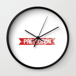 Little Sister Protection Squad Big Bro Distressed Wall Clock
