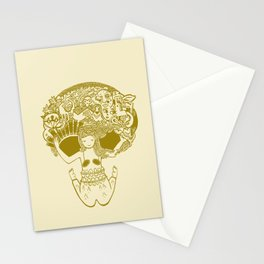 TWISTED SKULL GIRL DANCE Stationery Cards
