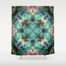 Abstract Stained Glass Shower Curtain