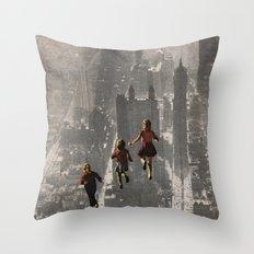 RUN THE TOWN Throw Pillow