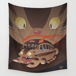 Catbus Wall Tapestry