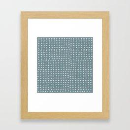 Slate x Dots Framed Art Print