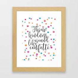 PRINTABLE Art, Throw Kindness Around Like Confetti,Confetti print,Watercolor Confetti,Nursery Decor, Framed Art Print