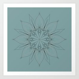 Floral design #074 Art Print