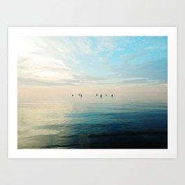Freshwater Beach Meeting Art Print