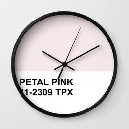 Honeymoon Hotel Petal Pink Wall Clock