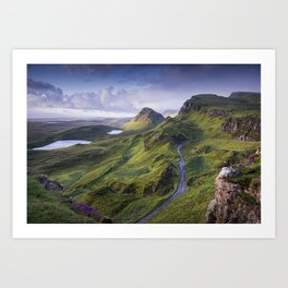 The Road to the Quiraing Art Print