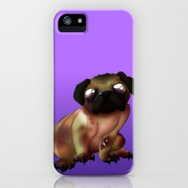 Night of the living Pug  iPhone Case