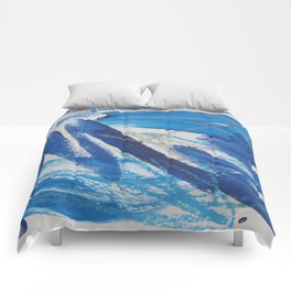 A Study in Blue, No. 2 Comforters