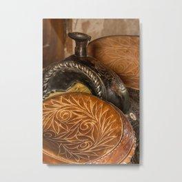 Saddles Metal Print