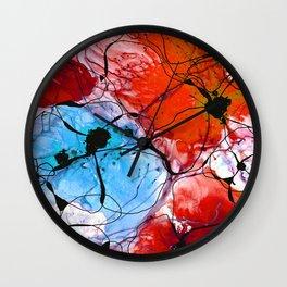 Red Flower Art - Wild Flowers - Sharon Cummings Wall Clock