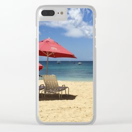 Barbados Beach Day Clear iPhone Case