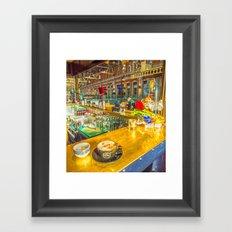 COFFEE BREAK WATERLOO STATION Framed Art Print