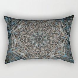 Blue and black Center Swirl Rectangular Pillow