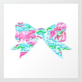 Lilly Pulitzer Bow Art Print