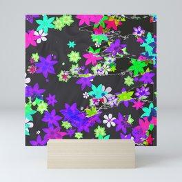 Flowers torn paper Mini Art Print