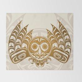 Salish Owl Throw Blanket