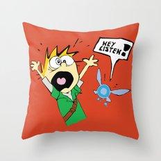 Calvin the Timeless Hero Throw Pillow