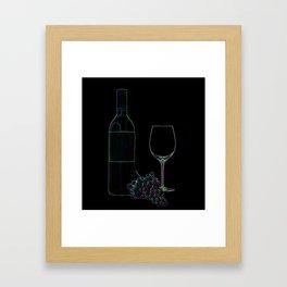 Neon Wine Framed Art Print