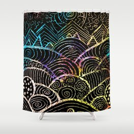 A Hilly Landscape Shower Curtain