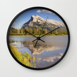 Vermilion Lakes and Mount Rundle, Banff National Park, Canada Wall Clock