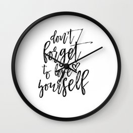 Digital Print, Typography Poster,Awesome Quote, Monochrome Art, Motivational Wall Decor Wall Clock
