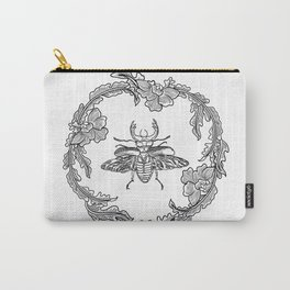 Flowers with beetle Carry-All Pouch