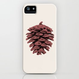 Red Pine Cone iPhone Case