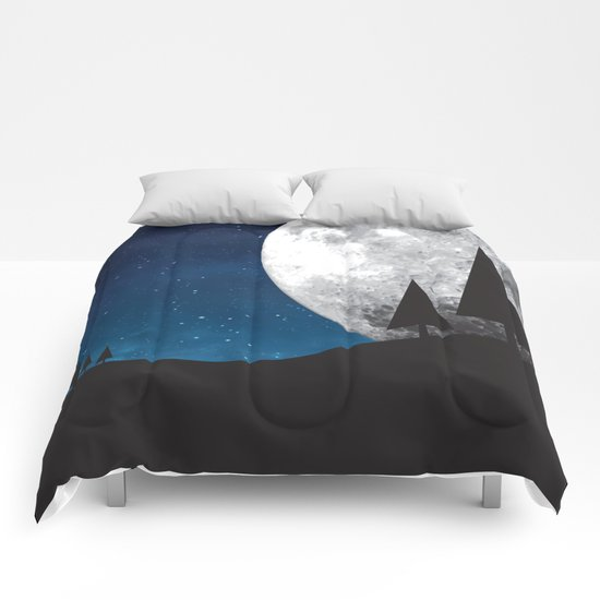 Moonlight Silhouette Comforters