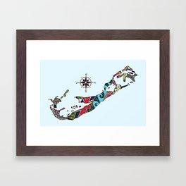 Bermuda Map Framed Art Print