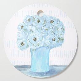 Boho still life flowers in vase Cutting Board