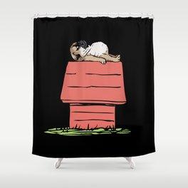 PUG HOUSE Shower Curtain